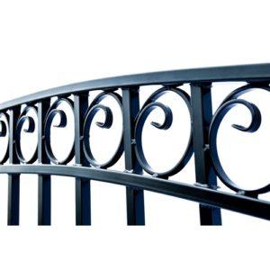 Dublin Style Single Swing Steel Driveway Gate Image 2