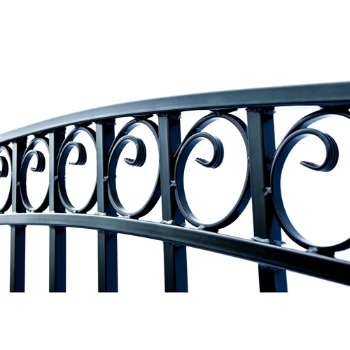 Dublin Style Single Swing Steel Driveway Gate Image 2
