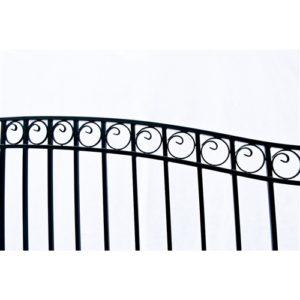 Dublin Style Single Swing Steel Driveway Gate Image 3