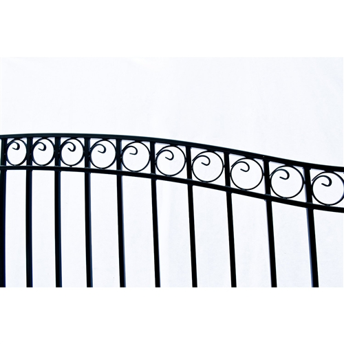 Dublin Style Single Swing Steel Driveway Gate Image 3