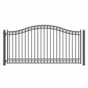 Dublin Style Single Swing Steel Driveway Gate Image