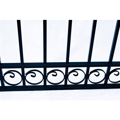 Dublin Style Single Swing Steel Driveway Gate Image 4