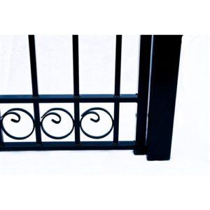Dublin Style Single Swing Steel Driveway Gate Image 5