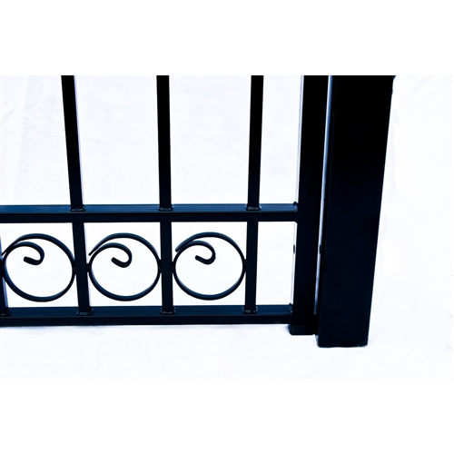 Dublin Style Single Swing Steel Driveway Gate Image 5
