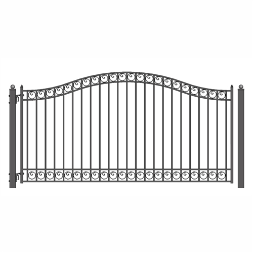 Dublin Style Single Swing Steel Driveway Gate Image
