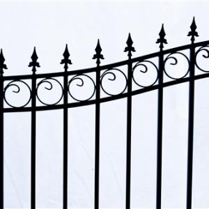 London Style Dual Swing Steel Driveway Gate Image 3