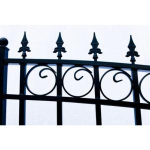 London Style Dual Swing Steel Driveway Gate Image 8