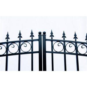 London Style Dual Swing Steel Driveway Gate Image 9