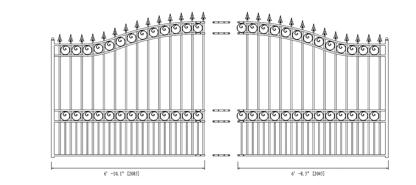 London Style Single Swing Steel Driveway Gate DG14LONSSW AG 2 london style single swing steel driveway gate 12' 18' swing auto gate wiring diagram at bayanpartner.co