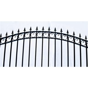 London Style Single Swing Steel Driveway Gate Image 2
