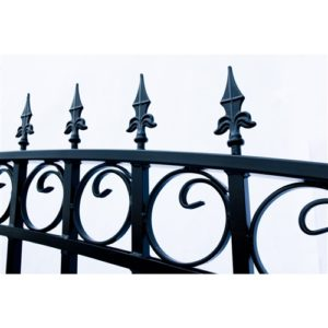 London Style Single Swing Steel Driveway Gate Image 3