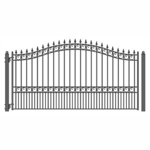 London Style Single Swing Steel Driveway Gate Image