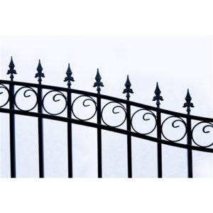 London Style Single Swing Steel Driveway Gate Image 4