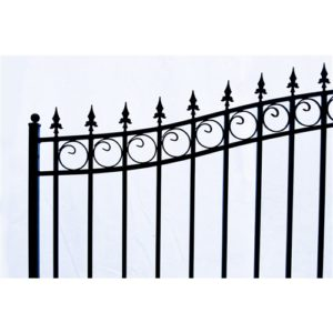 London Style Single Swing Steel Driveway Gate Image 5