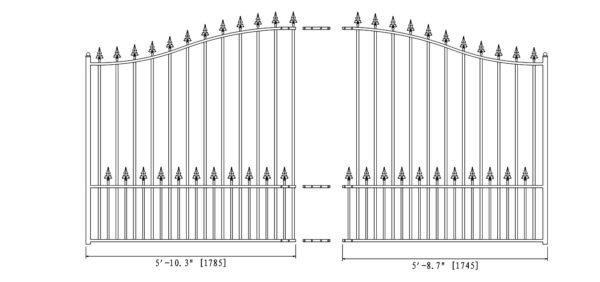 Munich Style Single Swing Steel Driveway Gate DG12MUNSSW-AG 2