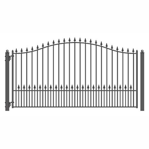 Munich Style Single Swing Steel Driveway Gate Image
