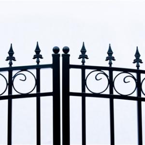 Prague Style Dual Swing Steel Driveway Gate Image 2