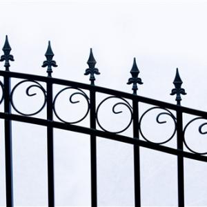 Prague Style Dual Swing Steel Driveway Gate Image 3