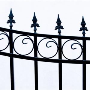 Prague Style Dual Swing Steel Driveway Gate Image 4