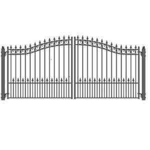 Prague Style Dual Swing Steel Driveway Gate Image 500x500