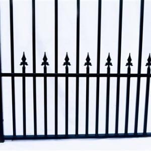 Prague Style Dual Swing Steel Driveway Gate Image 7