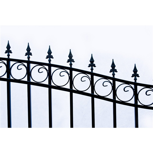 Prague Style Single Swing Steel Driveway Gate Image 3