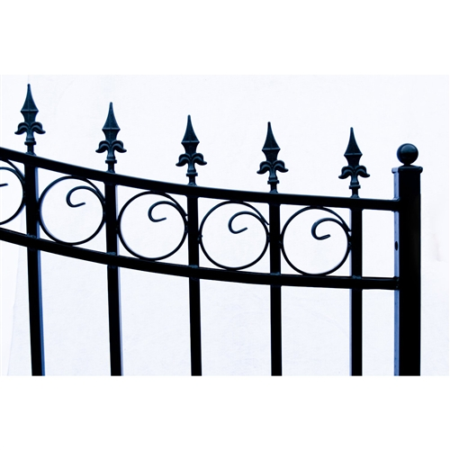 Prague Style Single Swing Steel Driveway Gate Image 4