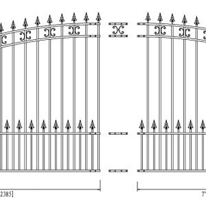 St. Petersburg Style Single Swing Steel Driveway Gate DG16STPSSW-AG 2