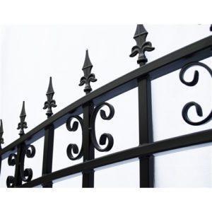 St. Petersburg Style Single Swing Steel Driveway Gate Image 2