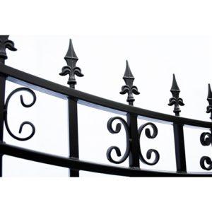 St. Petersburg Style Single Swing Steel Driveway Gate Image 3