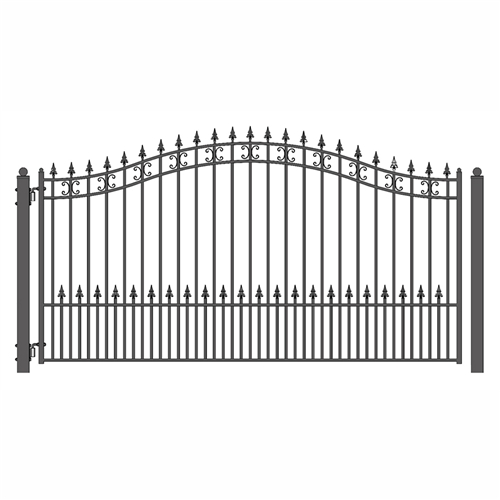 St Petersburg Style Single Swing Steel Driveway Gate