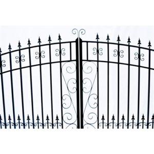 Venice Style Dual Swing Steel Driveway Gate Image 2