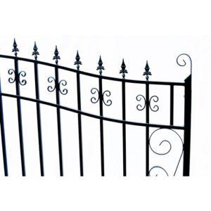 Venice Style Dual Swing Steel Driveway Gate Image 3