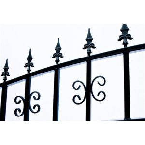 Venice Style Dual Swing Steel Driveway Gate Image 4