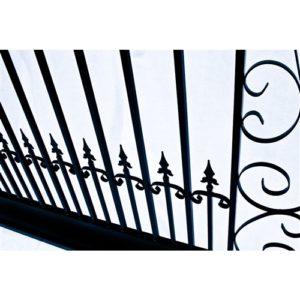 Venice Style Dual Swing Steel Driveway Gate Image 5