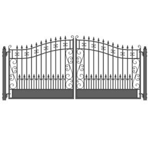 Venice Style Dual Swing Steel Driveway Gate Image 501x503