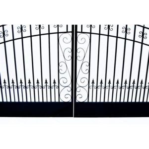 Venice Style Dual Swing Steel Driveway Gate Image 6