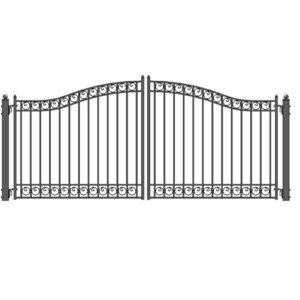 Dublin Style Dual Swing Steel Driveway Gate Image