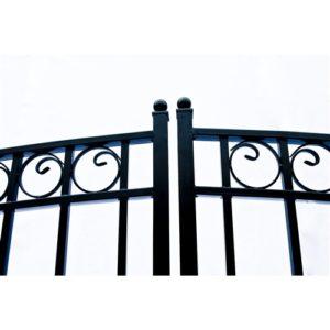 Dublin Style Dual Swing Steel Driveway Gate Image 4