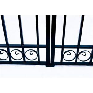 Dublin Style Dual Swing Steel Driveway Gate Image 5