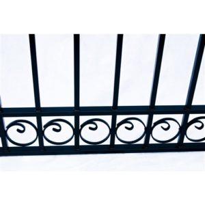 Dublin Style Dual Swing Steel Driveway Gate Image 6