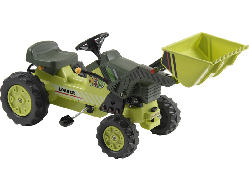 Metal Pedal Tractor Loader : Kalee pedal loader tractor green