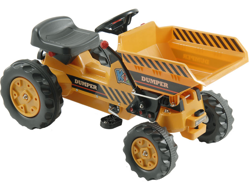Kalee Pedal Tractor With Dump Bucket Yellow