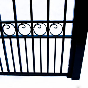 Moscow Style Dual Swing Steel Driveway Gate Image 2