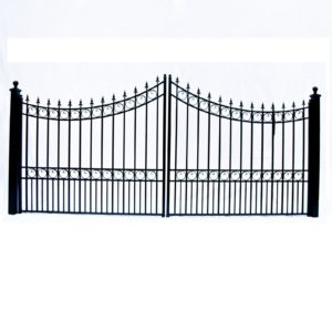 Moscow Style Dual Swing Steel Driveway Gate Image