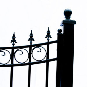 Moscow Style Dual Swing Steel Driveway Gate Image 6