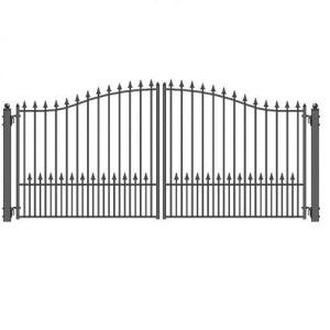 Munich Style Dual Swing Steel Driveway Gate Image