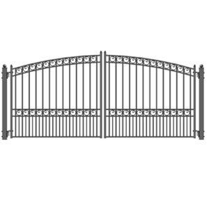 Paris Style Dual Swing Steel Driveway Gate 499x499