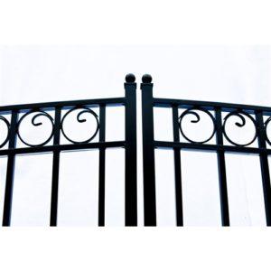 Paris Style Dual Swing Steel Driveway Gate Image 2