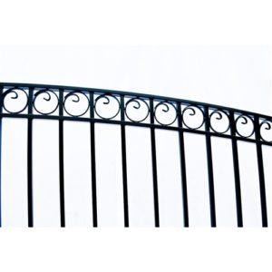 Paris Style Dual Swing Steel Driveway Gate Image 3